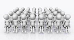 Audiência com figuras 3D ilustração do vetor