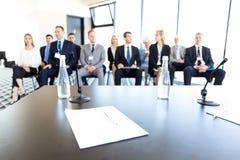 Audiência do negócio no treinamento Fotos de Stock