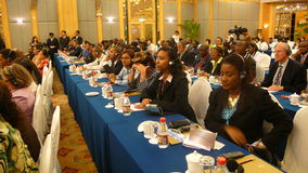 Audiência do seminário internacional Foto de Stock