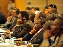 Audiência do seminário internacional Imagens de Stock