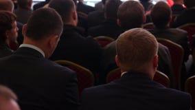 Audiência na conferência video estoque