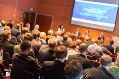 Audiência na sala de conferências Fotografia de Stock