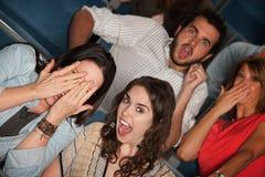 Audiência Scared fotografia de stock royalty free