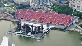 A audiência vestiu-se no vermelho para comemorar o dia nacional Fotos de Stock