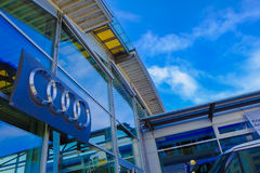 Audi återförsäljare Arkivbild