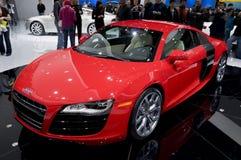 Audi 2009 R8 - afronte el ángulo Imagen de archivo libre de regalías