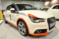 Audi A1. Model 2010 on display at the Auto Show Poland Royalty Free Stock Images