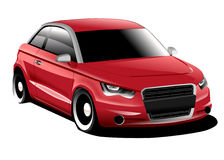 Audi A1 compact car. 2d illustration of audi a1.Illustration created from vector shapes in inkscape Royalty Free Illustration