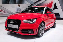 Audi A1 - russian premiere. MOSCOW, RUSSIA - August 26: Moscow International Automobile Salon 2010. Audi A1 - russian premiere Stock Photo