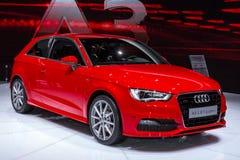 Audi A3 dans le salon automatique 2012 de Geneve Image stock