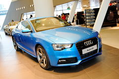 Audi A5 coupe on display at Audi Centre Singapore Stock Photo