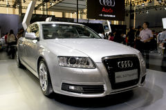 Audi a6. L3.0 Tquattro, made by chinese, in its exhibition hall in 2008 international auto show GuangZhou. it is from 19/11/2008 to 25/11/2008. Photo taken in 21 Stock Photos