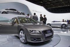Audi A7 3.0 TDI Quattro in de Show van de Motor van Parijs 2010 royalty-vrije stock foto's