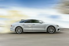 Audi A7 White Car. Royalty Free Stock Photos