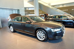 Audi A8 luxury limousine on display at Audi Centre Singapore Royalty Free Stock Photos