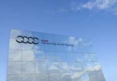 Audi advertising wall, raw Royalty Free Stock Images
