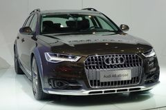 Audi a6 allroad. Chengdu Motor Show,China royalty free stock photos