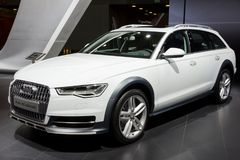 Audi A6 Allroad car. BRUSSELS - JAN 12, 2016: Audi A6 Allroad car showcased at the Brussels Motor Show stock images