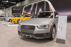 Audi allroad on display. Anaheim - USA - October 15, 2015: Audi allroad during Orange County International Auto Show royalty free stock images