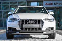Audi A4 allroad quattro new modern SUV 4WD car model. Munich, Germany - May 6, 2016: Audi A4 allroad quattro is new modern SUV car model with four wheel drive stock photos