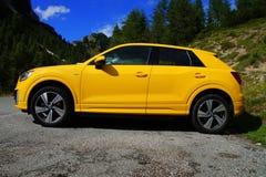 Audi amarillo A3 4wd Imagenes de archivo