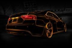 Audi astratto A5 Fotografie Stock Libere da Diritti