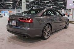 Audi A6 auf Anzeige Stockbild