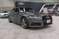 Audi A6 auf Anzeige Lizenzfreies Stockbild