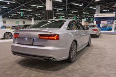 Audi A6 auf Anzeige Lizenzfreies Stockfoto