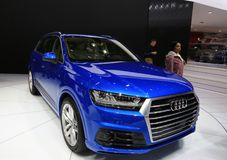Audi at the Auto Show Royalty Free Stock Photography