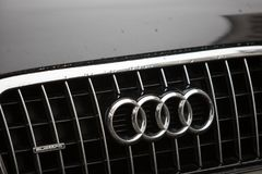 Audi-autoembleem royalty-vrije stock foto's