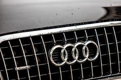 Audi-autoembleem stock foto's