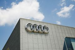 Audi Automobile Corporation Logo Fotografie Stock