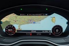 Audi A4 Avant 40 Dashboard. Hong Kong, China April, 2019 : Audi A4 Avant 40 Dashboard on April 3 2019 in Hong Kong royalty free stock image