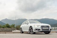 Audi A4 Avant 40 de dag van de testaandrijving stock afbeelding