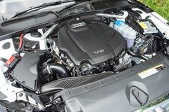 Audi A4 Avant 40 Engine. Hong Kong, China April, 2019 : Audi A4 Avant 40 Engine on April 3 2019 in Hong Kong royalty free stock image