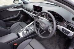Audi A4 Avant 40 Interior. Hong Kong, China April, 2019 : Audi A4 Avant 40 Interior day on April 3 2019 in Hong Kong royalty free stock photo