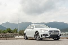 Audi A4 Avant 40 test drive day. Hong Kong, China April, 2019 : Audi A4 Avant 40 test drive day on April 3 2019 in Hong Kong stock image
