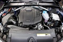 Audi A4 Avant 45 TFSI quattro Engine Royalty Free Stock Photo