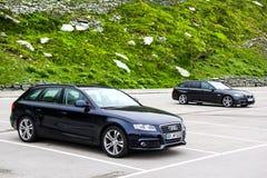 Audi A4 Avant und BMW F11 5 Reihe Reisen Lizenzfreies Stockbild