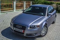 Audi a4 b7. Landscape in Romania, in summer 2016 romania Stock Photography