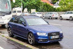 Audi A4. BERLIN, GERMANY - SEPTEMBER 10, 2013: Motor car Audi A4 in the city street Royalty Free Stock Images
