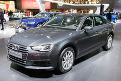 Audi A4 Berline. BRUSSELS - JAN 12, 2016: Audi A4 Berline on display at the Brussels Motor Show Royalty Free Stock Photo