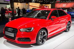 Audi A3 Berline car. BRUSSELS - JAN 12, 2016: Audi A3 Berline car on display at the Brussels Motor Show Royalty Free Stock Photos