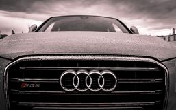 Audi Black and Chrome Grille Stock Images
