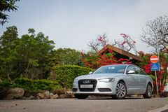 Audi A6 bland 2014 Royaltyfri Bild