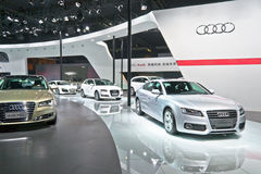 Audi booth royalty free stock photography