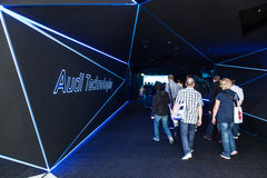 AUDI booth at the IAA 2015 Stock Photo