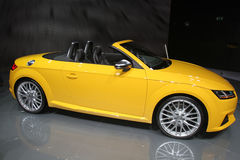 Audi Cabriolet at Paris Motor Show 2014 Royalty Free Stock Photos