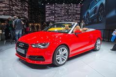 Audi A3 Cabriolet - world premiere Stock Photography